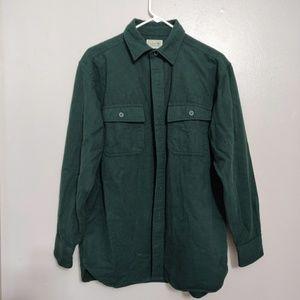 Men's 100% Cotton L L Bean Forest Green Jacket